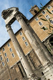 Roma Imperial fora. Imperial Fora (the most beautiful area of Rome Stock Images