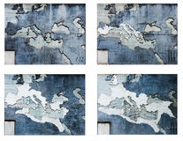 Roma imperium mapy royalty ilustracja