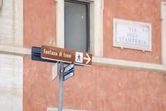 Roma, indicazioni di grandi monumenti storici del Itali immagini stock libere da diritti
