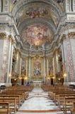 Roma - interiore - altare principale della chiesa dell'IL Jesu Fotografia Stock