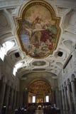 Roma, interno di St Peter in catene San Pietro in Vincoli fotografia stock