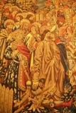 Roma, Itália - 2 de setembro de 2017: Arte da pintura bonita na parede dentro de Vatican City State imagens de stock