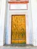 Roma, Itália - 10 de setembro de 2015: A porta da basílica de Saint Paul Imagem de Stock Royalty Free