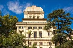 Roma, Itália - 12 de setembro de 2017: A grande sinagoga de Roma fotos de stock royalty free