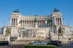ROMA, ITÁLIA - EM JULHO DE 2017: Construção do palácio de Veneza no quadrado de Veneza em Roma, Itália Imagens de Stock Royalty Free
