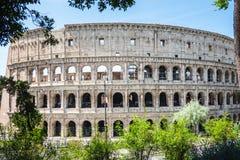 ROMA, Itália: Grande Roman Colosseum Coliseum, Colosseo igualmente conhecido como Flavian Amphitheatre Marco famoso do mundo Urba imagens de stock