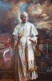 ROMA, ITÁLIA: A pintura de St John Paul II em di Santa Maria del Popolo da basílica da igreja por Natalia Tsarkova 2006 Imagem de Stock