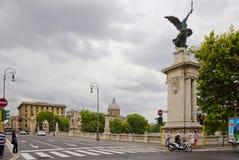 Roma, Itália, ponte de Vittorio Emanuele II foto de stock royalty free