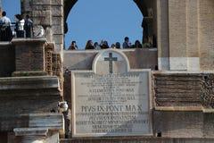 Roma, Itália - Teatro Flavio, conhecido como Colosseo fotografia de stock