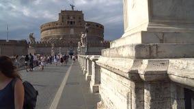 Roma, Italia - 23 06 2018: ` Ángel, Roma de Ponte Sant Castel Sant Angelo metrajes