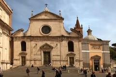 Roma, Italia - 12 aprile 2016: ` S Square Piazza del Popolo della gente Fotografia Stock