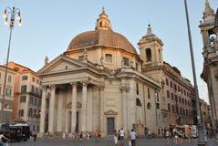 Piazza del Popolo in Rome Stock Photo