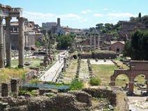 19 06 2017, Roma, Italia: Bella vista delle rovine di romano famoso Fotografia Stock