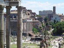 19 06 2017, Roma, Italia: Bella vista delle rovine di romano famoso Immagine Stock