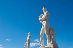 Roma, Italia - 6 de agosto de 2016 Estatua del combatiente en el estadio del Fotografía de archivo libre de regalías