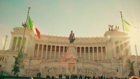 Roma, Italia - 31 de diciembre de 2018 II della famoso Patria del monumento o de Altare de Vittorio Emanuele en el cuadrado de Ve almacen de metraje de vídeo
