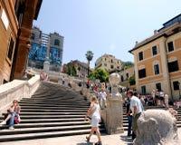 Roma, Italia 17 de junho de 2005: Etapas espanholas imagens de stock royalty free