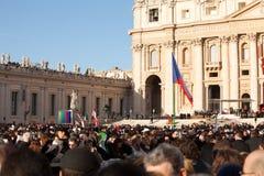 O papa Francis Inauguração Massa Fotografia de Stock Royalty Free
