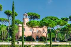 ROMA, ITALIA - 29 DE OCTUBRE DE 2013: Chalet Borghese del parque Imágenes de archivo libres de regalías