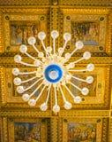 ROMA, ITALIA 10 DE OCTUBRE DE 2017: El Pasillo de los capitanes Ceil adornado Foto de archivo libre de regalías