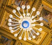 ROMA, ITALIA 10 DE OUTUBRO DE 2017: O Salão dos capitães Ceil ornamentado Foto de Stock Royalty Free