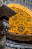 Roma, Italia - 11 de septiembre de 2016 Detalle del interior del panteón Imagen de archivo