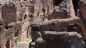 ROMA - ITALIA, el 29 de junio de 2017: población dentro de Colosseum metrajes