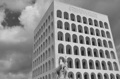 Roma, Italia, EUR, Colosseum cuadrado Imágenes de archivo libres de regalías