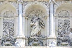 Roma, Italia, fontana della fontana felice di Mosè fotografie stock libere da diritti