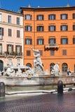 Roma Italia - fuente de Neptuno en la plaza Navona Foto de archivo