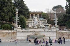 ROMA, ITALIA - 27 GENNAIO 2010: Di Roma di dea di della di Fontana Fotografia Stock Libera da Diritti