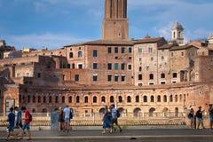 Roma/Italia - 08/06/2018: Giorno del mercato di Traiano fotografia stock libera da diritti