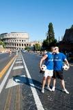 Roma, Italia - 23 giugno 2012 Giorno di gay pride, la gente di parata a Roma Immagini Stock Libere da Diritti