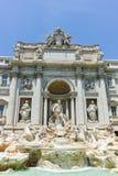 ROMA, ITALIA - 23 GIUGNO 2017: Vista stupefacente della fontana Fontana di Trevi di Trevi in città di Roma Immagine Stock