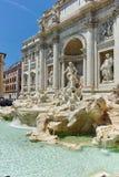 ROMA, ITALIA - 23 GIUGNO 2017: Vista stupefacente della fontana Fontana di Trevi di Trevi in città di Roma Immagine Stock Libera da Diritti