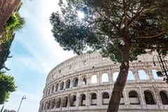 ROMA, Italia: Gran Roman Colosseum Coliseum, Colosseo tambi?n conocido como Flavian Amphitheatre Se?al famosa del mundo Urba esc? fotografía de archivo