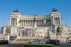 ROMA, ITALIA - JULIO DE 2017: Edificio del palacio de Venecia en el cuadrado de Venecia en Roma, Italia Imágenes de archivo libres de regalías