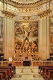 ROMA, ITALIA, L'11 APRILE 2016: La crocifissione di St Andrew la a fotografia stock libera da diritti