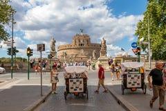 Roma, Italia - 3 luglio 2017: Castel Sant Angelo in un giorno di estate i immagini stock