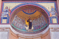 ROMA, ITALIA - 11 MARZO 2016: Il mosaico Gesù e l'apostolo dalla P L Ghezzi 1674 - 1755 Fotografia Stock Libera da Diritti