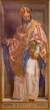 ROMA, ITALIA - 9 MARZO 2016: L'affresco del medico del basilico della st della chiesa le grande in Di Santa Maria di Chiesa della Fotografia Stock Libera da Diritti