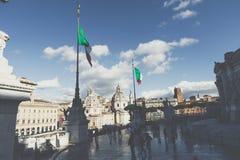 ROMA, ITALIA - 30 NOVEMBRE 2017: Monumento commemorativo il Vittorian Fotografia Stock Libera da Diritti