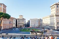 ROMA, ITALIA - 10 OTTOBRE 2016: Foto del venezia della piazza Fotografie Stock Libere da Diritti