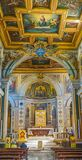 ROMA, ITALIA 10 OTTOBRE 2017: L'interno della basilica di Fotografie Stock Libere da Diritti