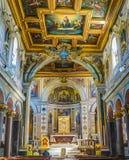 ROMA, ITALIA 10 OTTOBRE 2017: L'interno della basilica di Immagine Stock Libera da Diritti