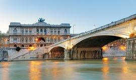 Roma, Italia. Palazzo di giustizia (Palazzo di Giustizia) - courthou Fotografia Stock