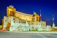 Roma, Italia - piazza Venezia Fotografia Stock Libera da Diritti