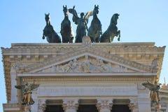 Roma, Italia - piazza Venezia con i monumenti di Patria di della di Altare immagini stock libere da diritti