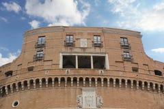 Roma, Italia - 2 settembre 2017: Bello Castel Sant ?Angelo sul cielo blu e sulla nuvola fotografia stock libera da diritti