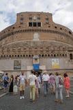 Roma, Italia - 2 settembre 2017: Bello Castel Sant ?Angelo sul cielo blu e sulla nuvola fotografie stock libere da diritti